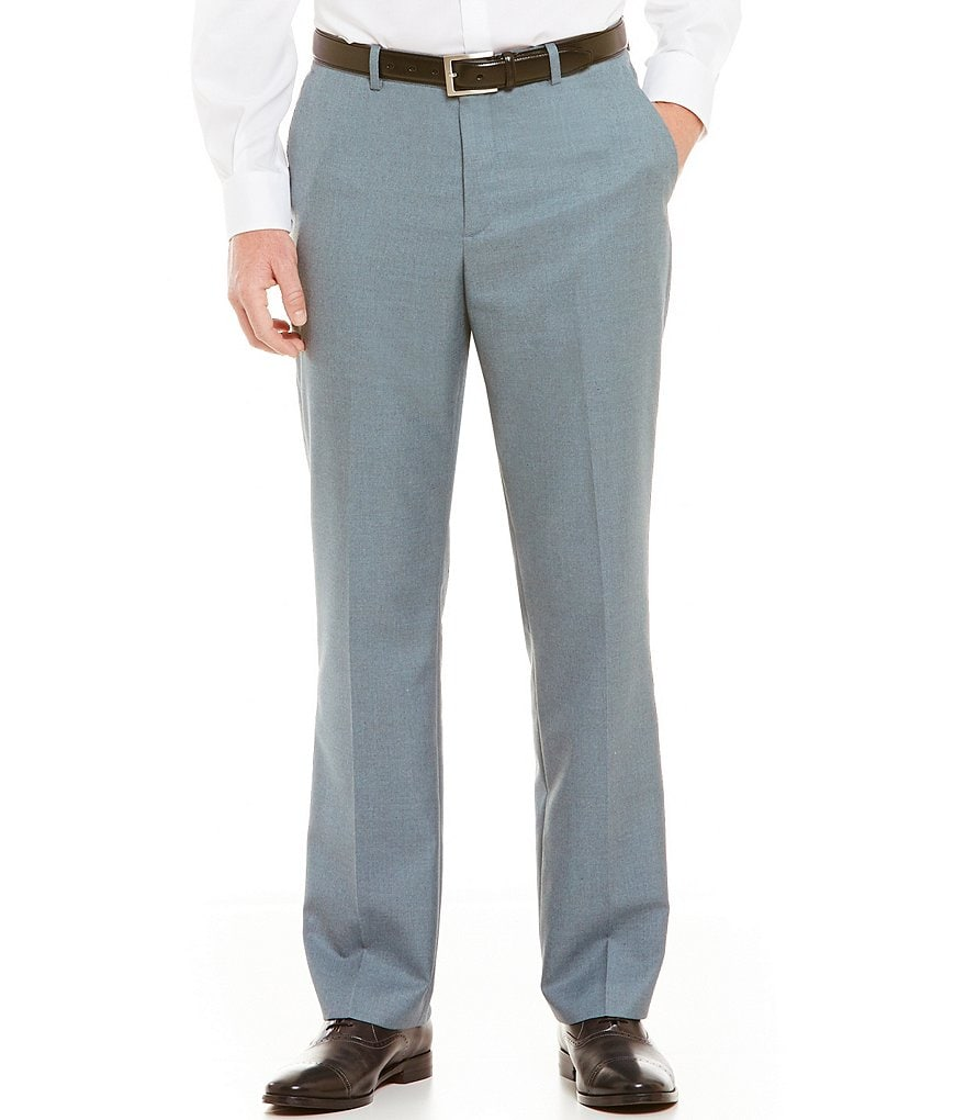 Perry Ellis Flat-Front Solid Twill Pants