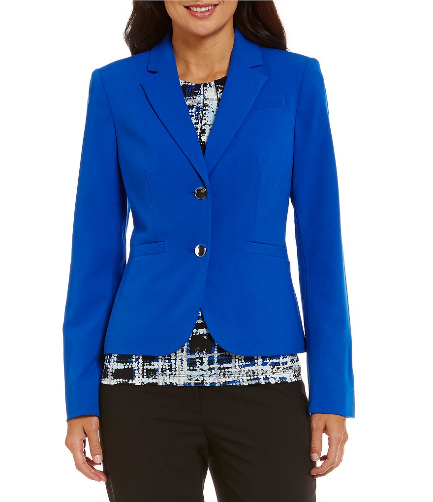 Calvin Klein Luxe Stretch Two-Button Solid Suit Jacket