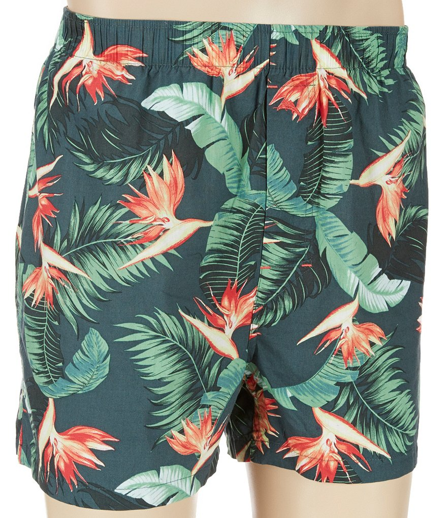 Tommy Bahama Birds Of Paradise Print Woven Boxers