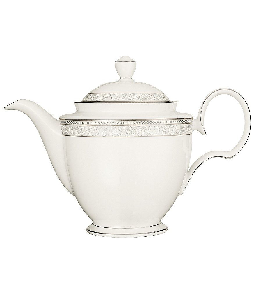 Noritake Meridian Cirque Filigree Platinum Coffee Server