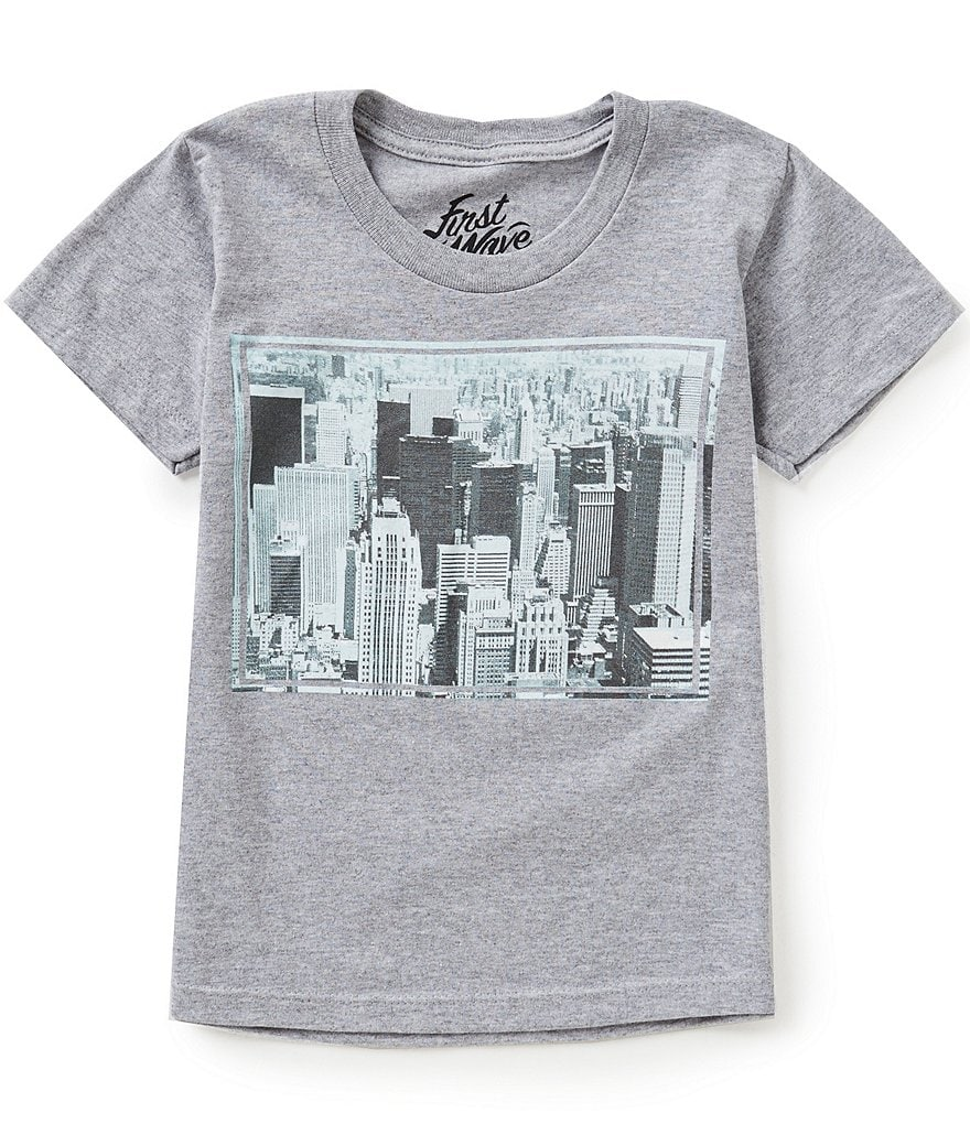 First Wave Big Boys 8-20 City Scene Graphic Tee