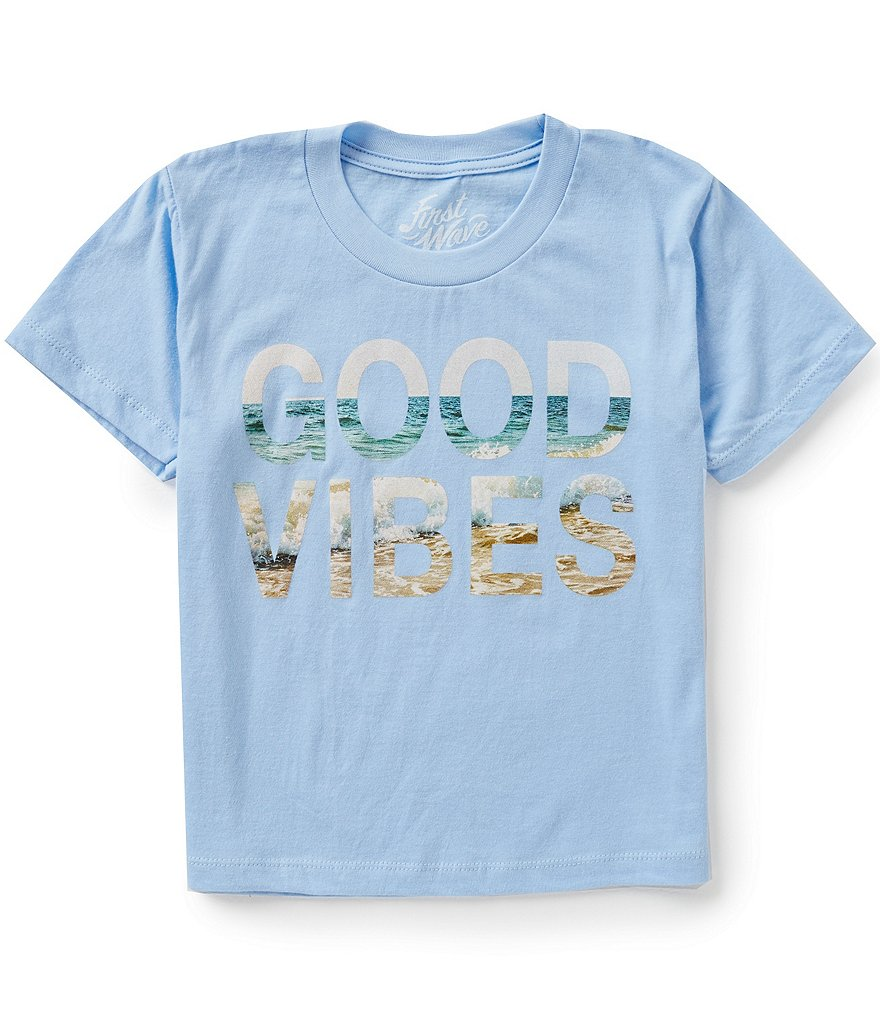 First Wave Big Boys 8-20 Good Vibes Graphic Tee