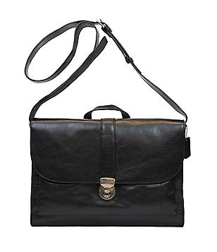 Nash For Men Heritage Leather Messenger Bag