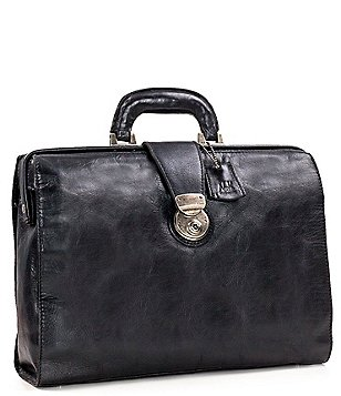 Nash For Men Heritage Leather Slim Briefcase