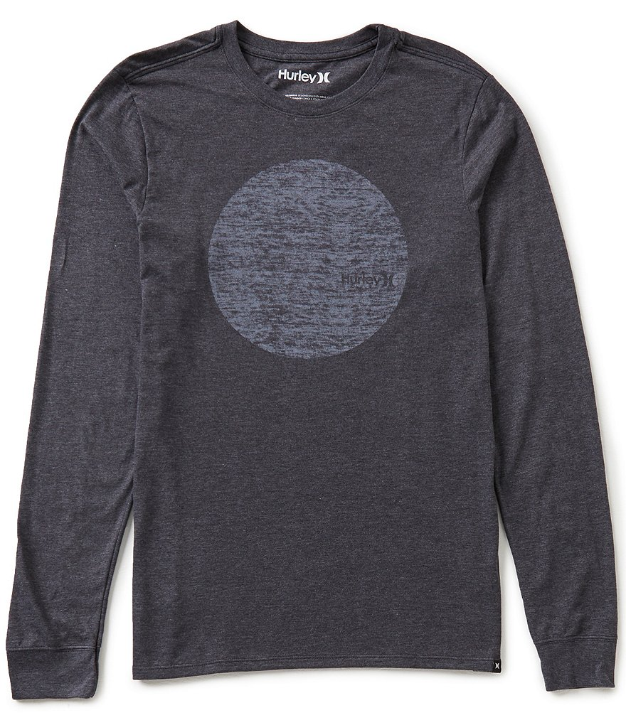 Hurley Circular Long-Sleeve Soft Hand Screen Print Graphic Tee