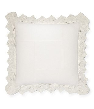 Ralph Lauren Saranac Peak Collection Kayla Crochet Square Pillow