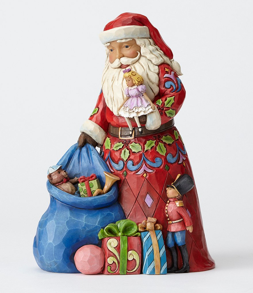 Jim Shore Christmas in the Bag Santa Figurine