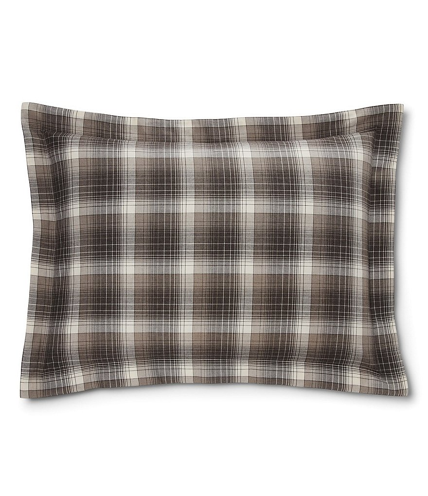 Ralph Lauren Hoxton Collection Jackson Plaid Cotton Sham