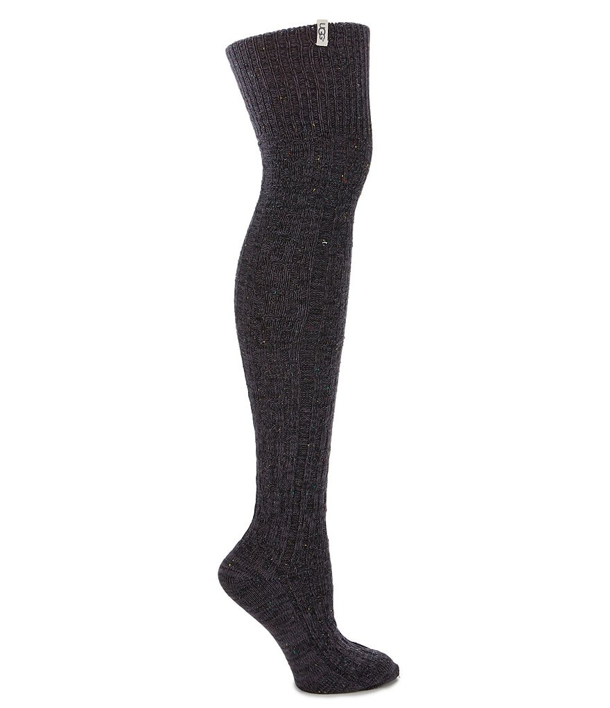 UGG® Slouchy Speckle Thigh-High Sock
