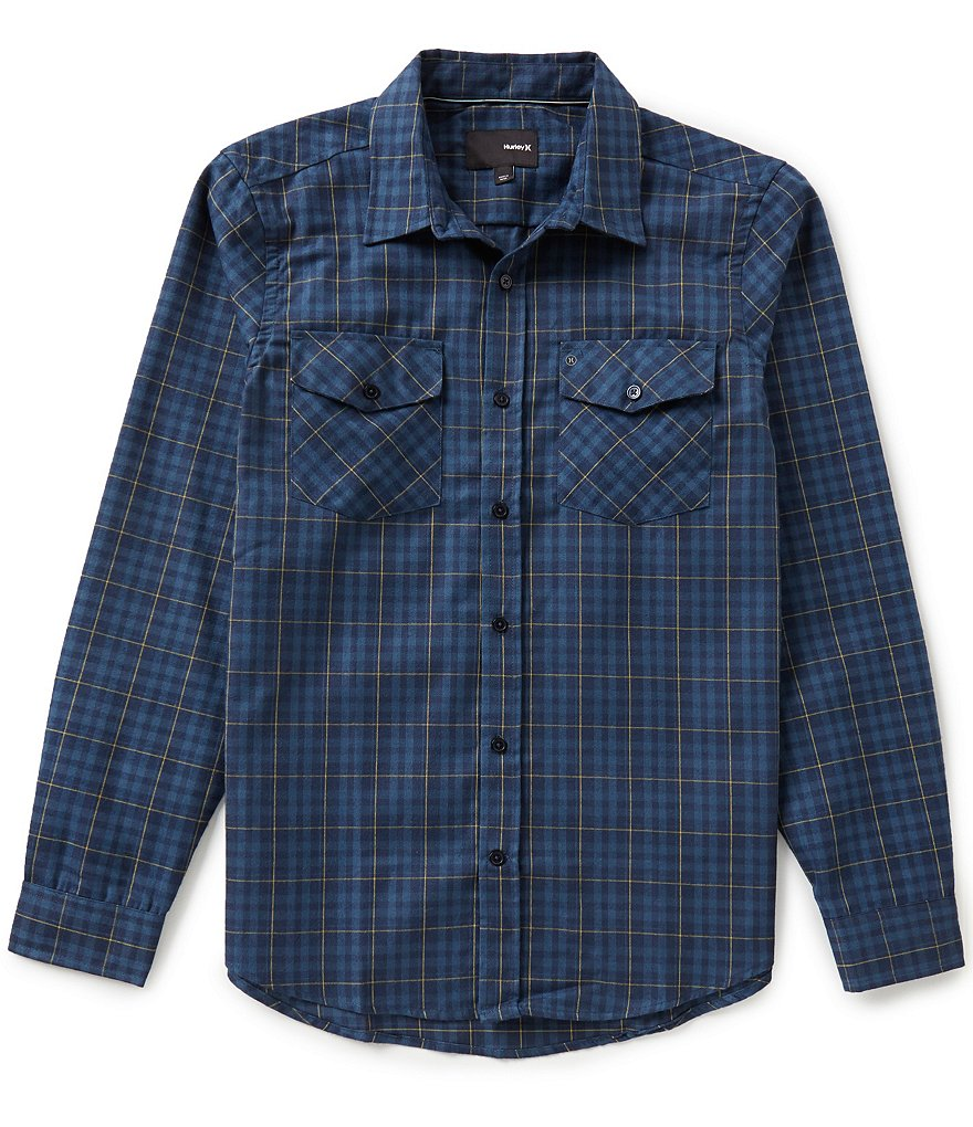 Hurley DRI-Fit Cascade Long-Sleeve Plaid Flannel Shirt