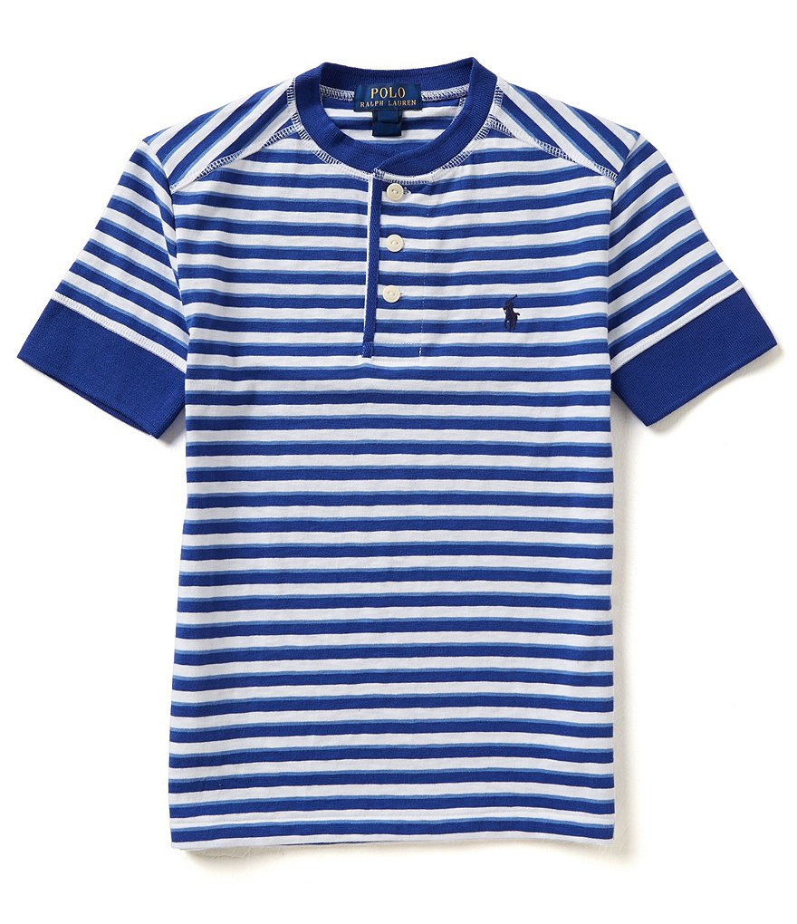 Ralph Lauren Childrenswear 8-20 Striped Henley Short-Sleeve Tee