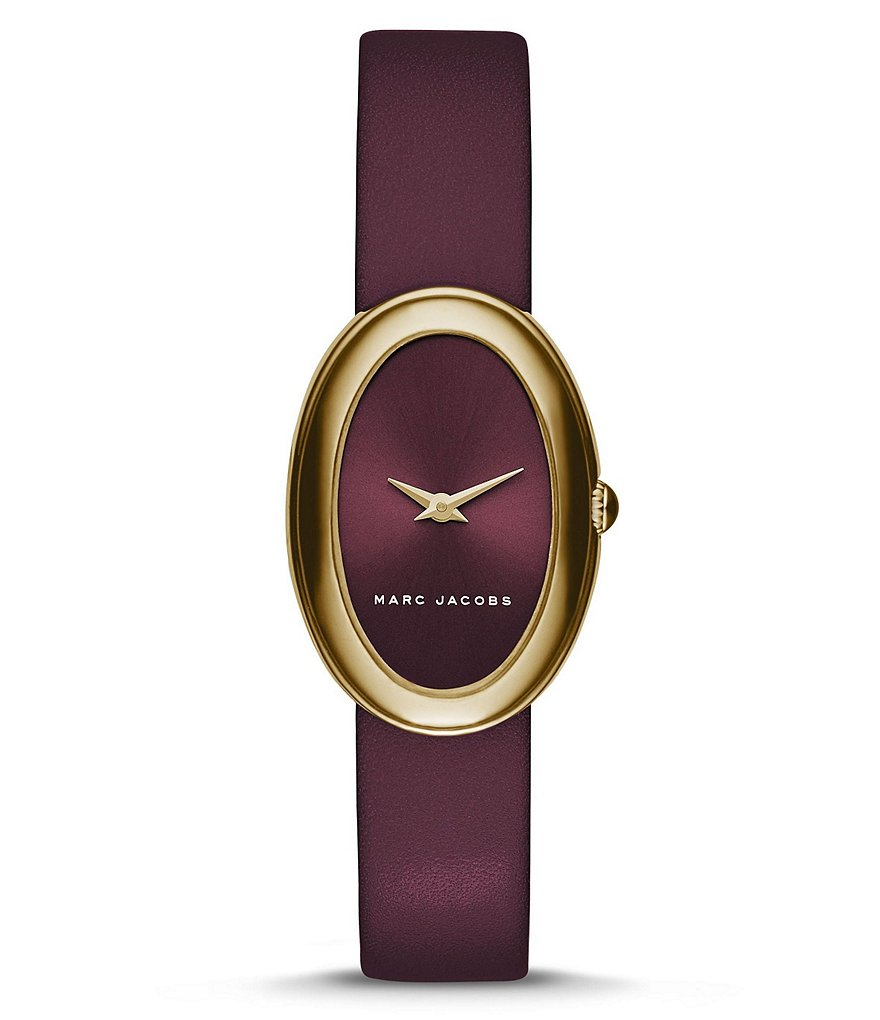 Marc Jacobs Cicely Leather Strap Oval Watch