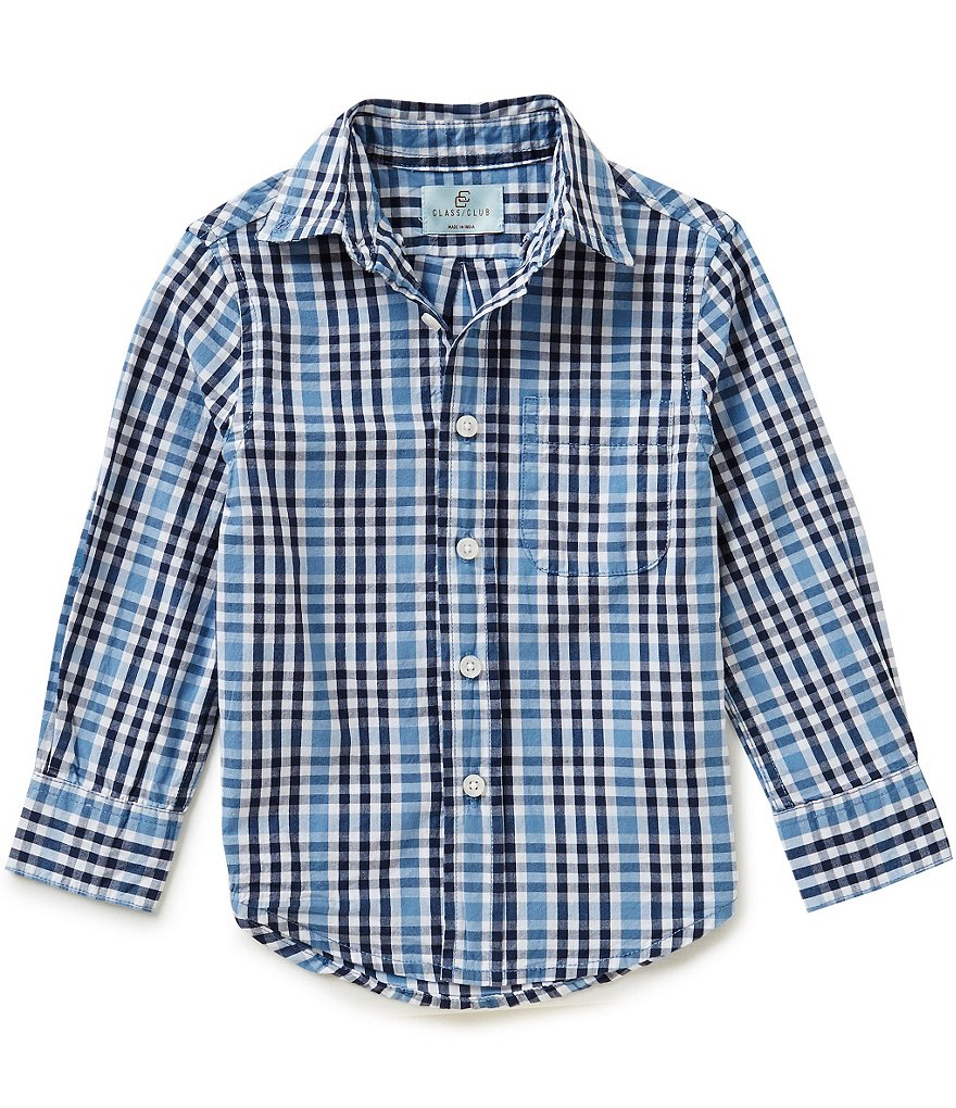 Class Club Little Boys 2T-7 Plaid Woven Shirt