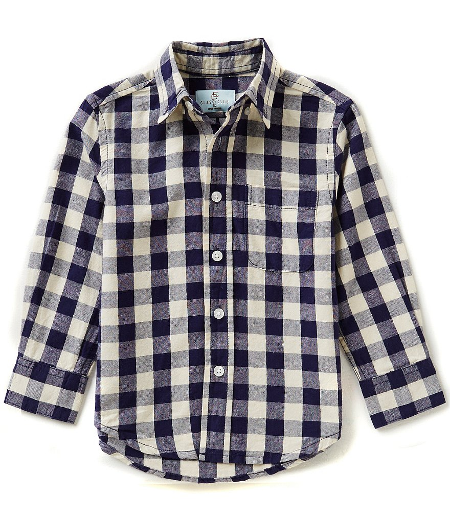 Class Club Little Boys 2T-7 Buffalo Check Woven Shirt