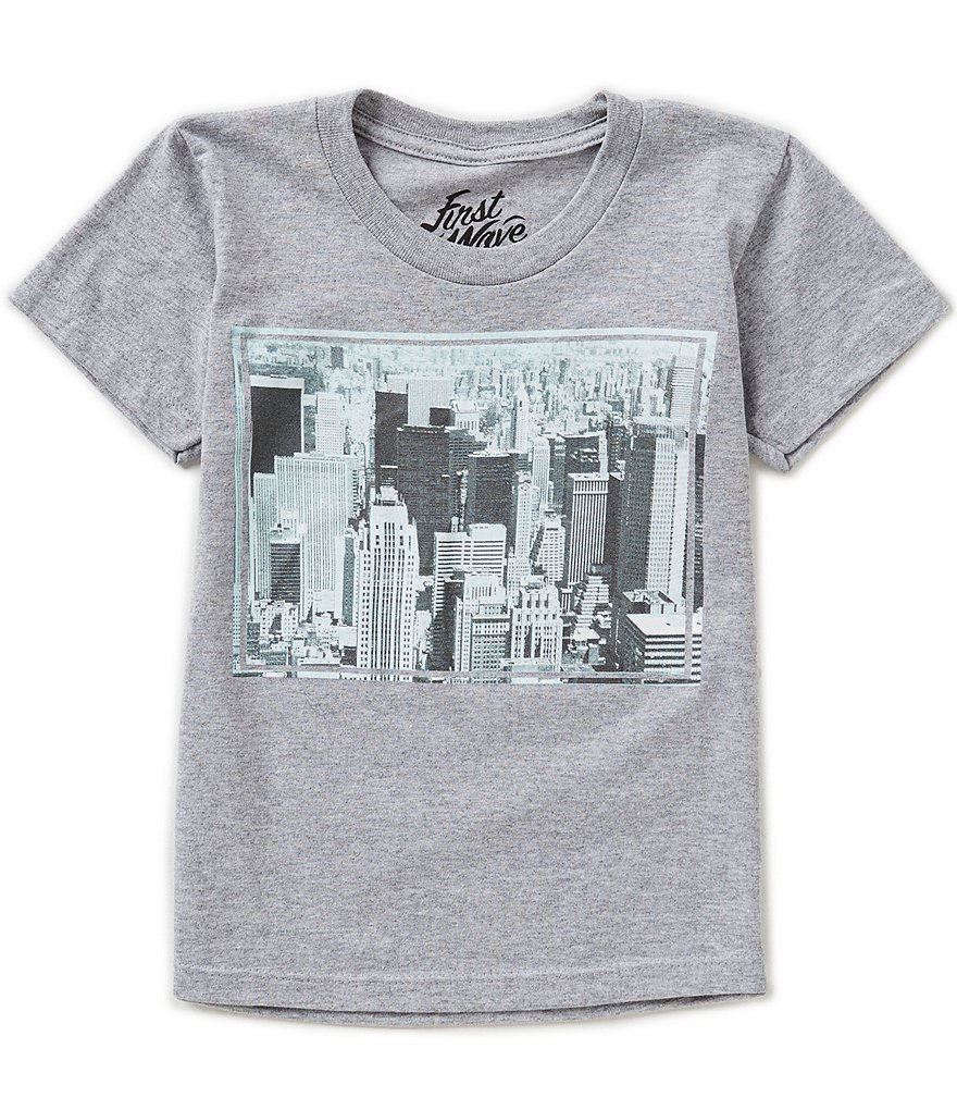 First Wave Little Boys 2T-7 City Scene Graphic Tee