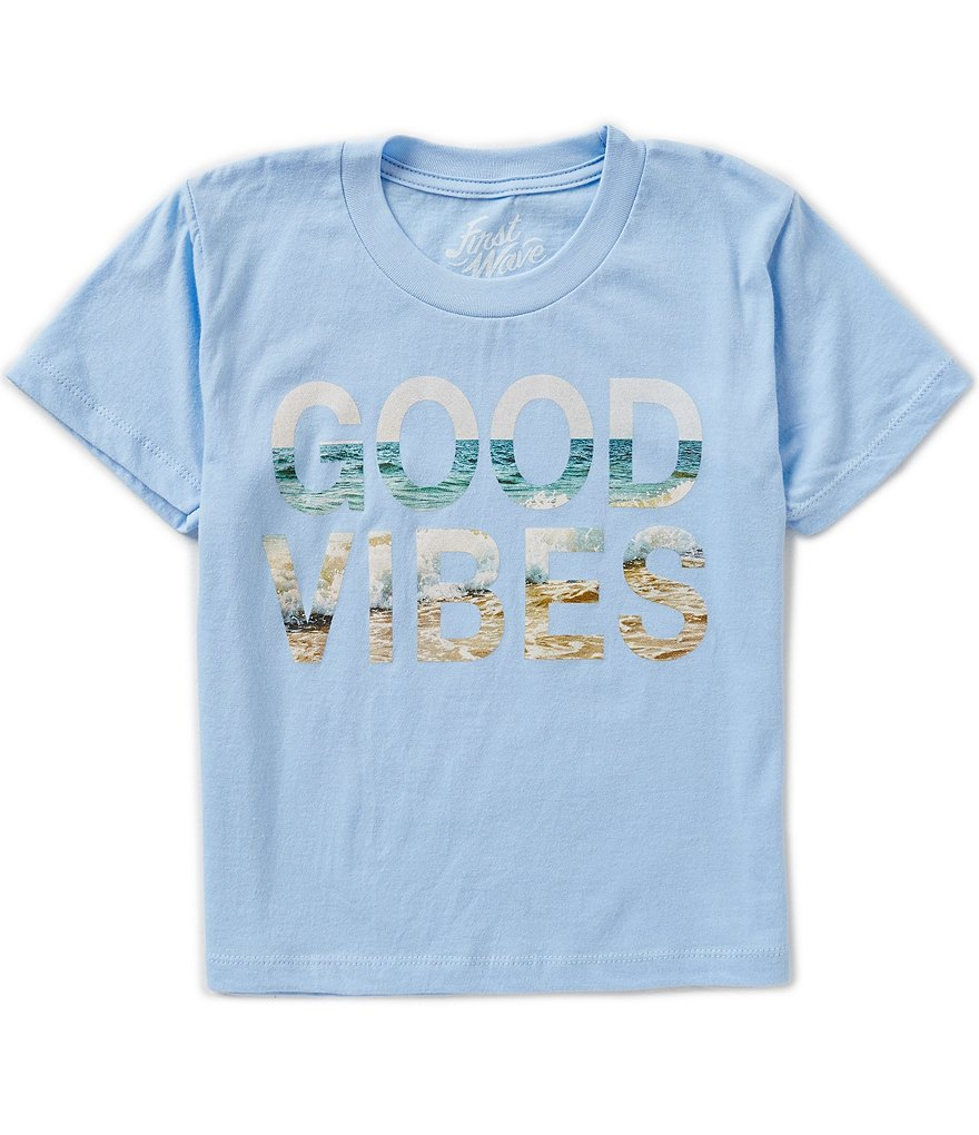 First Wave Little Boys 2T-7 Good Vibes Graphic Tee