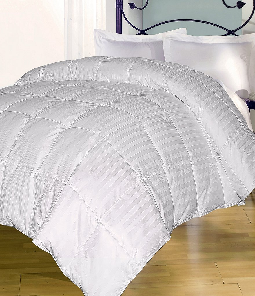 Hotel-Peninsula 250-Thread-Count Damask-Striped Down Comforter