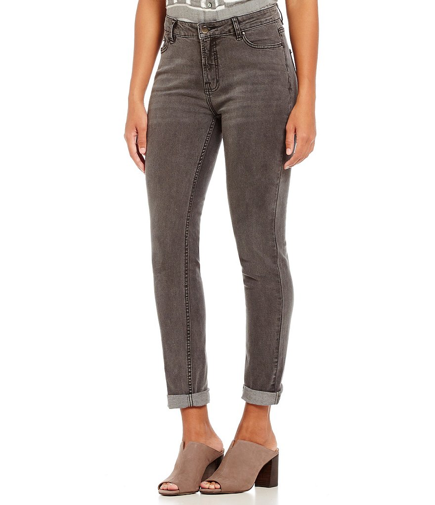 John Mark 5-Pocket Grey Skinny Jeans