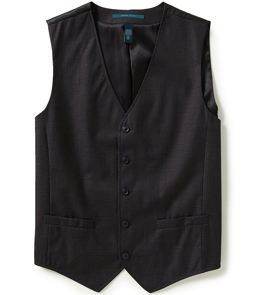 Perry Ellis Micro-Check Vest
