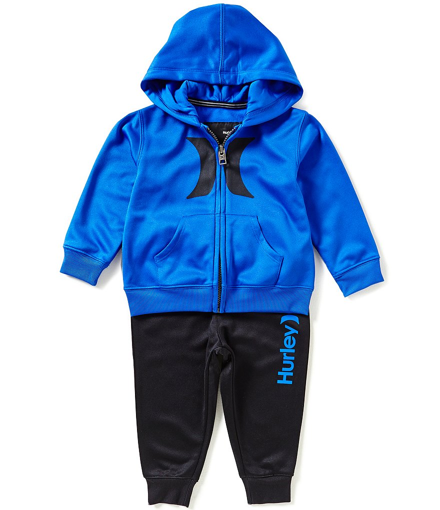 Hurley Baby Boys 12-24 Months Therma-FIT Space-Dyed Fleece Hoodie & Pant Set