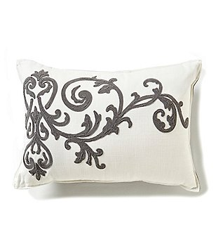 Southern Living Embroidered Scroll Breakfast Pillow