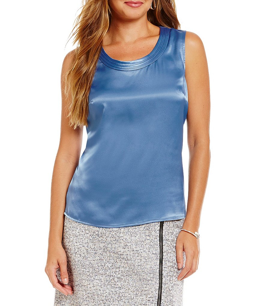 Kasper Charmeuse Solid Cami