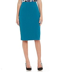Kasper Stretch Crepe Skimmer Pencil Skirt Image
