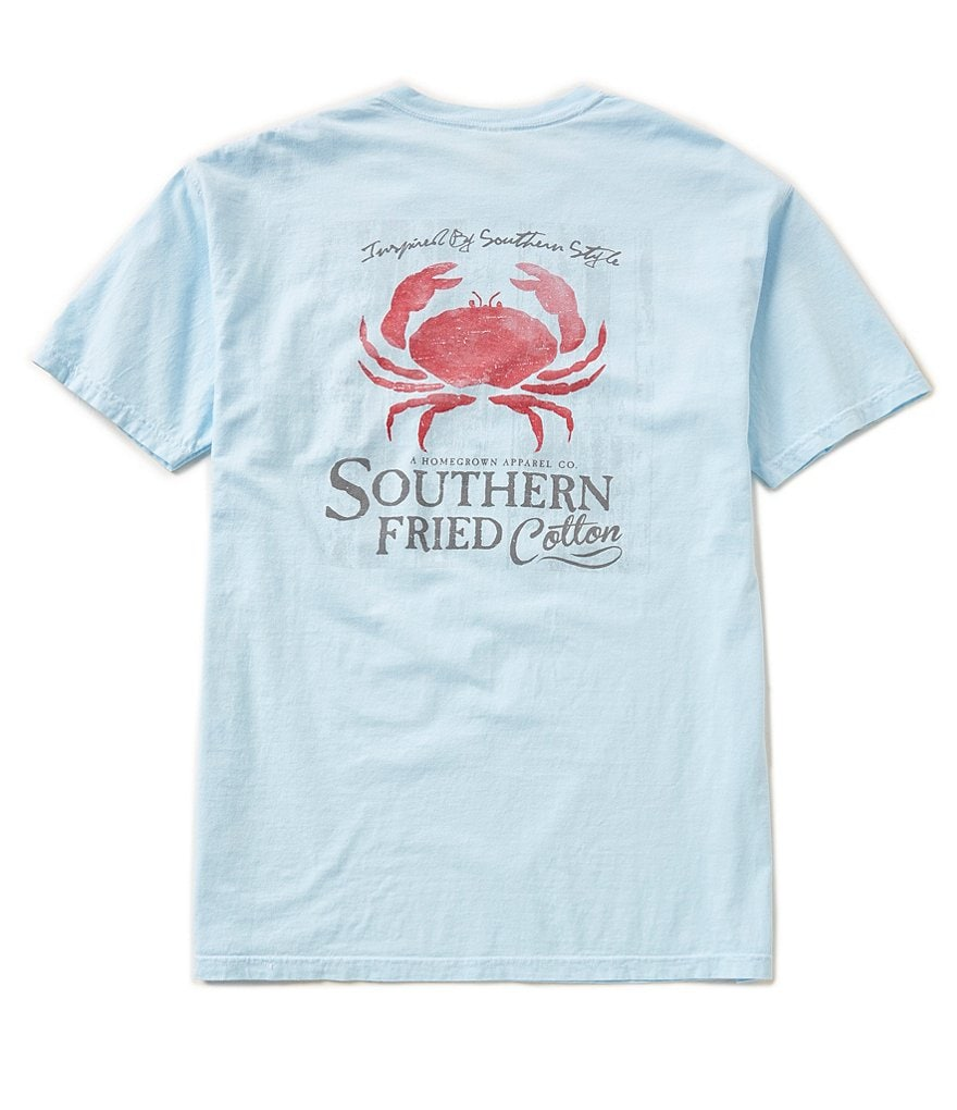 Southern Fried Cotton Mens Low Country Crab Graphic Short-Sleeve Tee