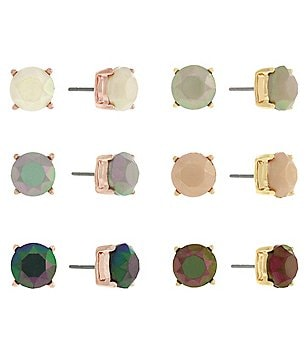 Jessica Simpson 6-Pair Stud Earring Set