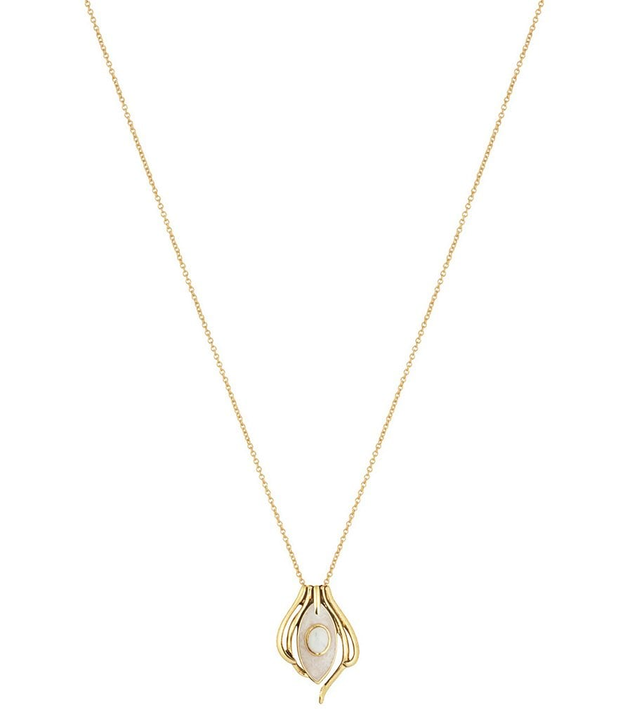 House Of Harlow Risha Howlite Pendant Necklace