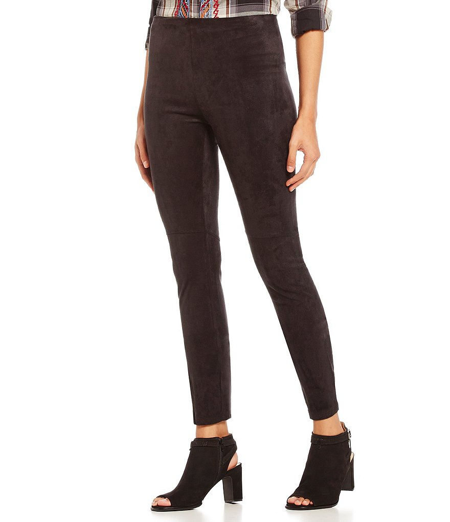 James Bryan Faux Suede Pull-On Leggings