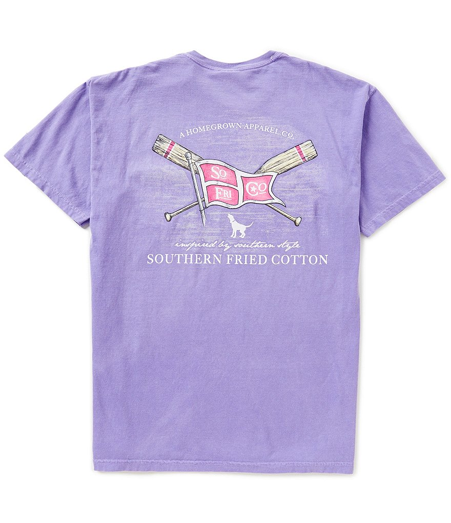 Southern Fried Cotton Mens Paddles And Pride Pocket Graphic Tee