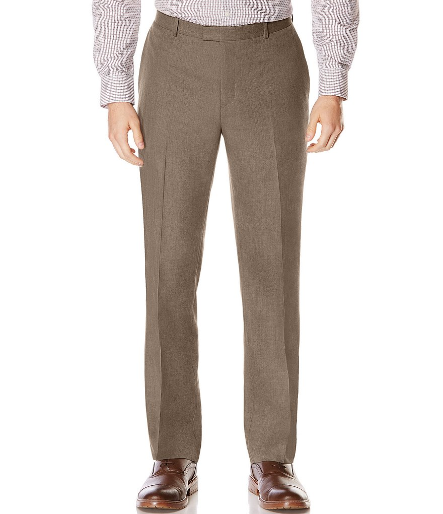 Perry Ellis Patterned Flat-Front Pants