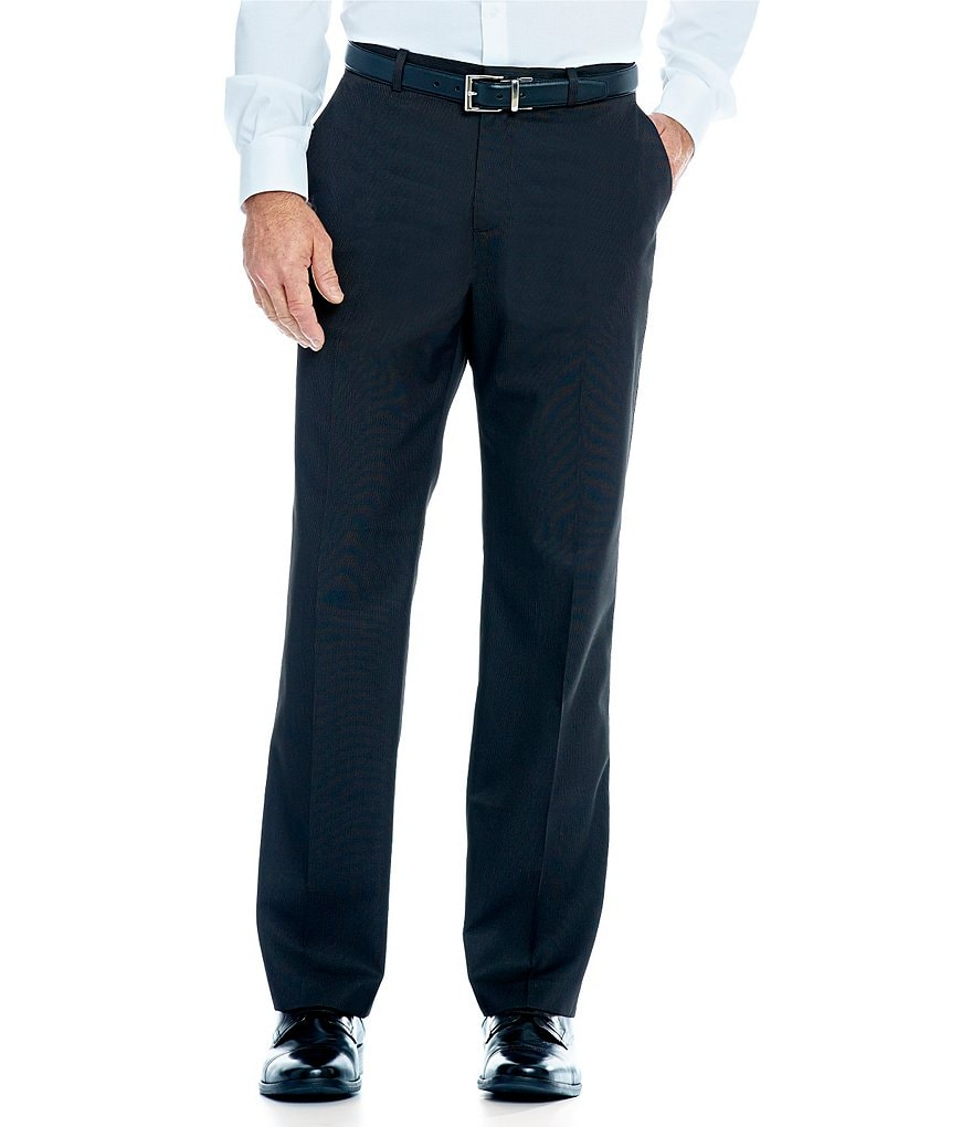 Perry Ellis Tonal Micro-Check Flat-Front Pants