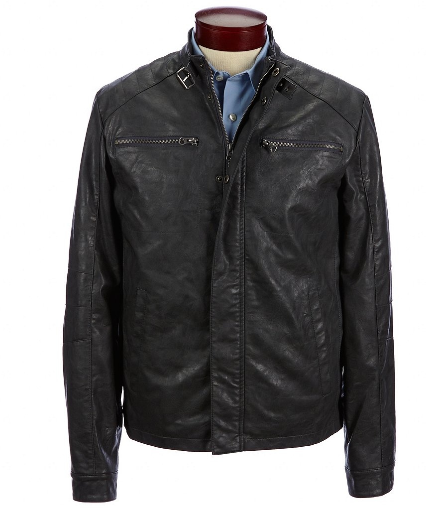 Murano Faux-Leather Moto Jacket