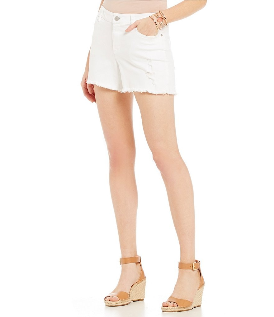 Two by Vince Camuto Ripped White Denim Short