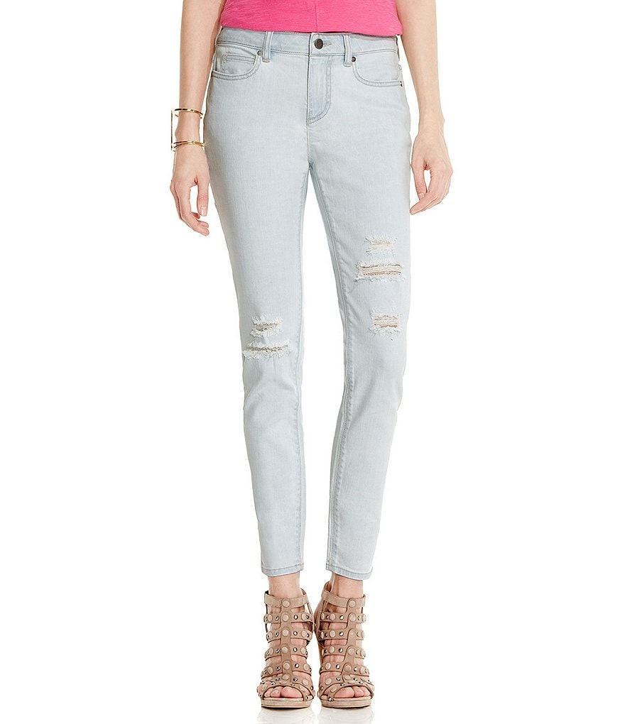 Two by Vince Camuto Beachside Ripped Destructed Skinny Jean