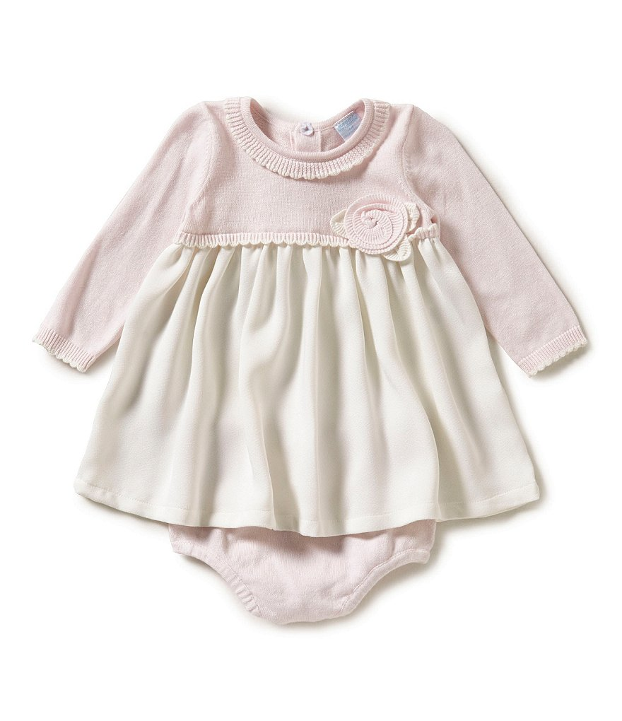 Edgehill Collection Baby Girls Newborn-6 Months Sweater Dress