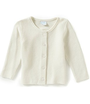 Edgehill Collection Baby Girls Newborn-6 Months Sweater Cardigan