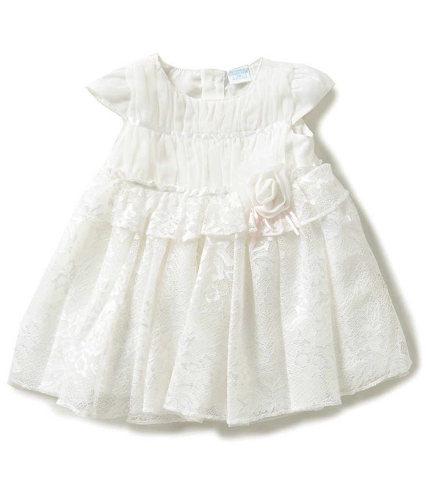 Edgehill Collection Baby Girls Newborn-6 Months Lace Dress