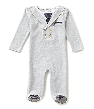 Edgehill Collection Baby Boys Newborn-6 Months Long-Sleeve Footed Coverall
