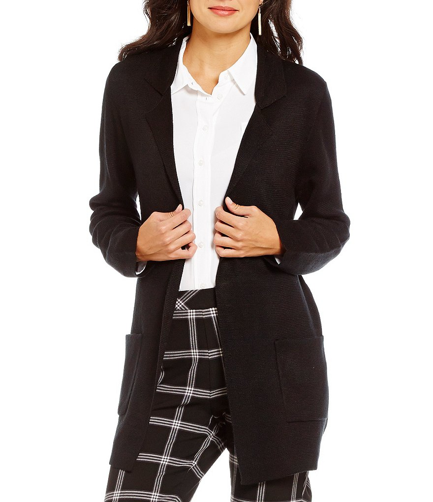 Investments Open Lapel Sweater Blazer