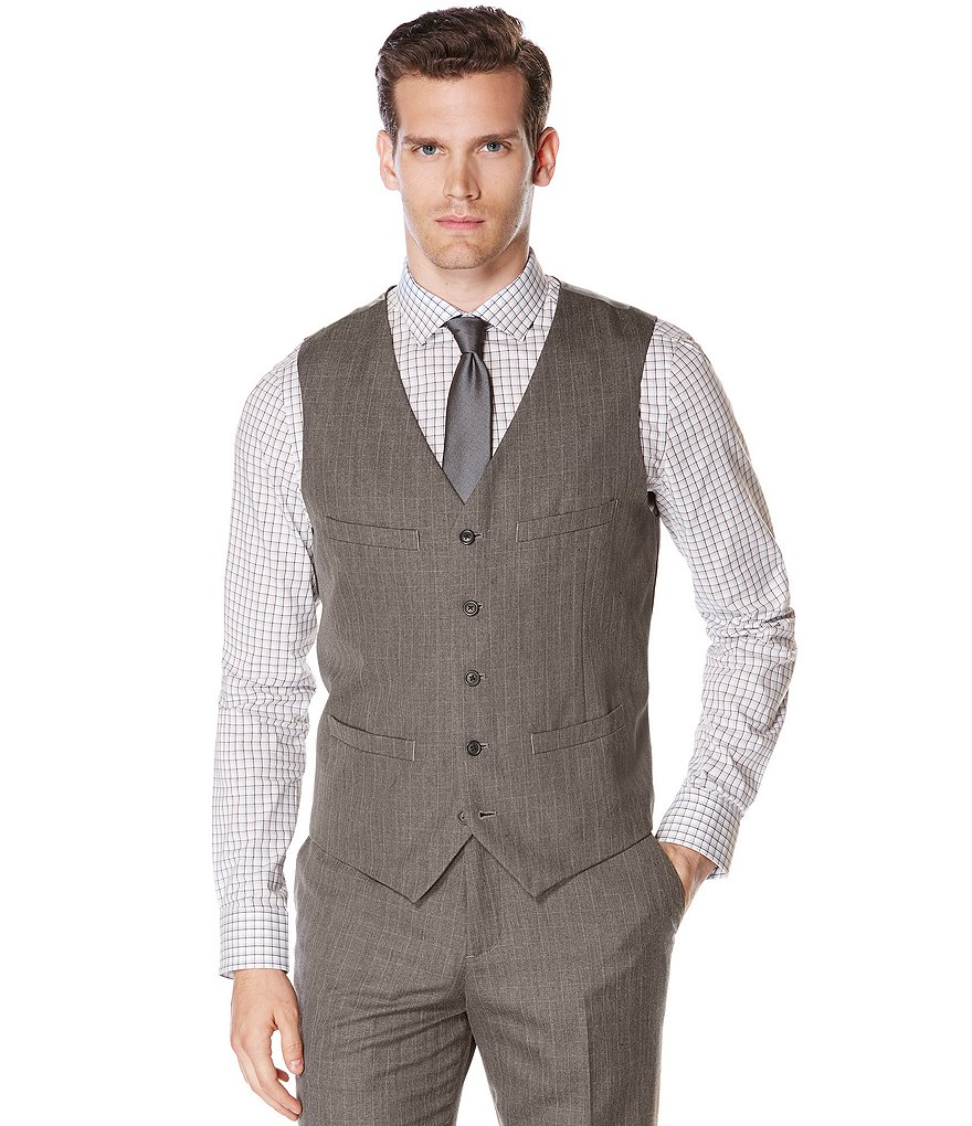 Perry Ellis Check Vest