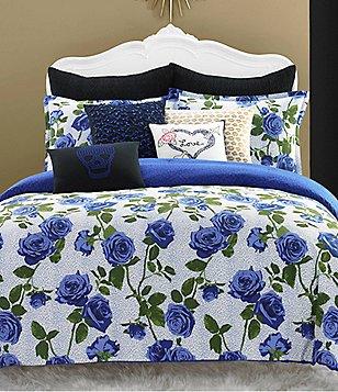 Betsey Johnson Regal Roses Love Arrow Heart Square Pillow