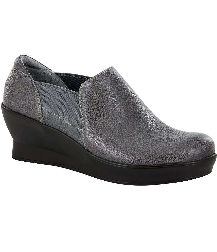 Alegria Fraya Leather Slip-Ons