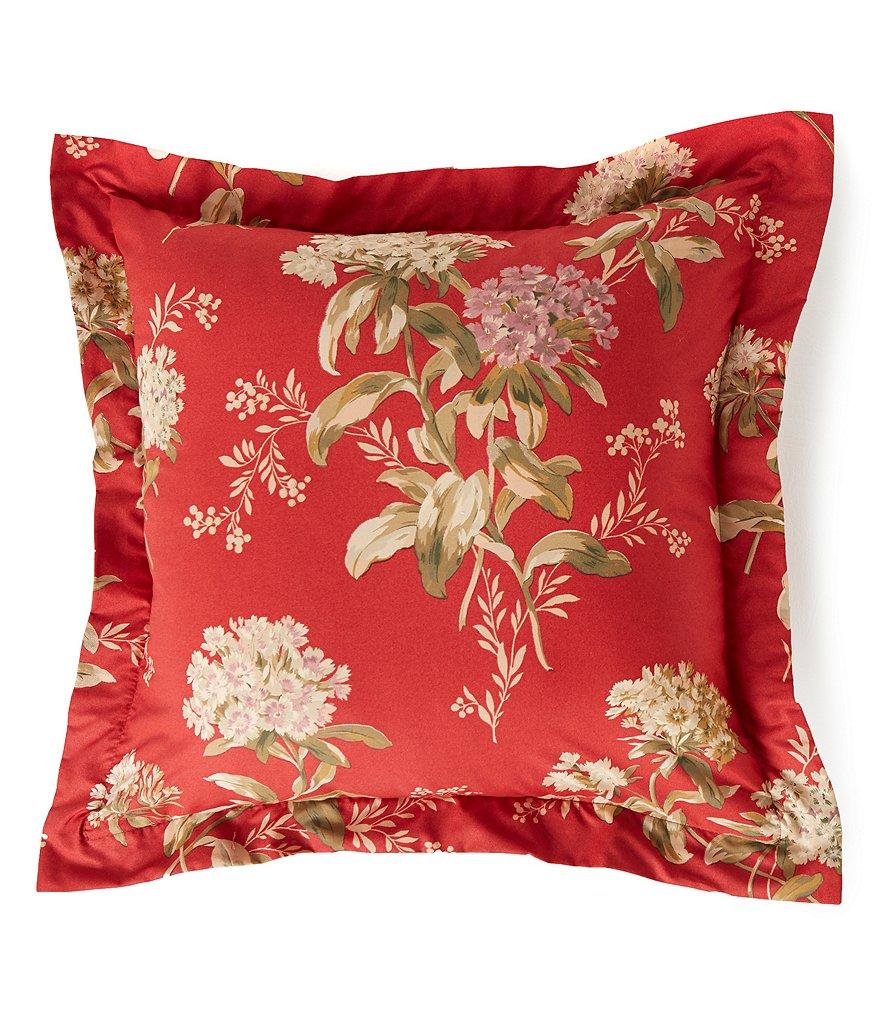 Southern Living Constance Jacobean Floral Square Pillow
