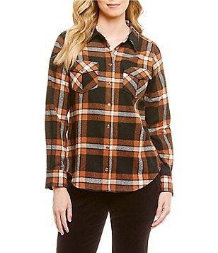 Pendleton Ultrafine Merino Wool Flannel Snap Front Desperado Plaid Shirt