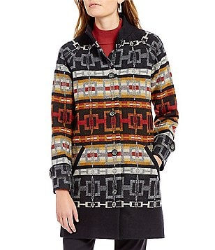 Pendleton Pecos River Wool Jacquard Coat