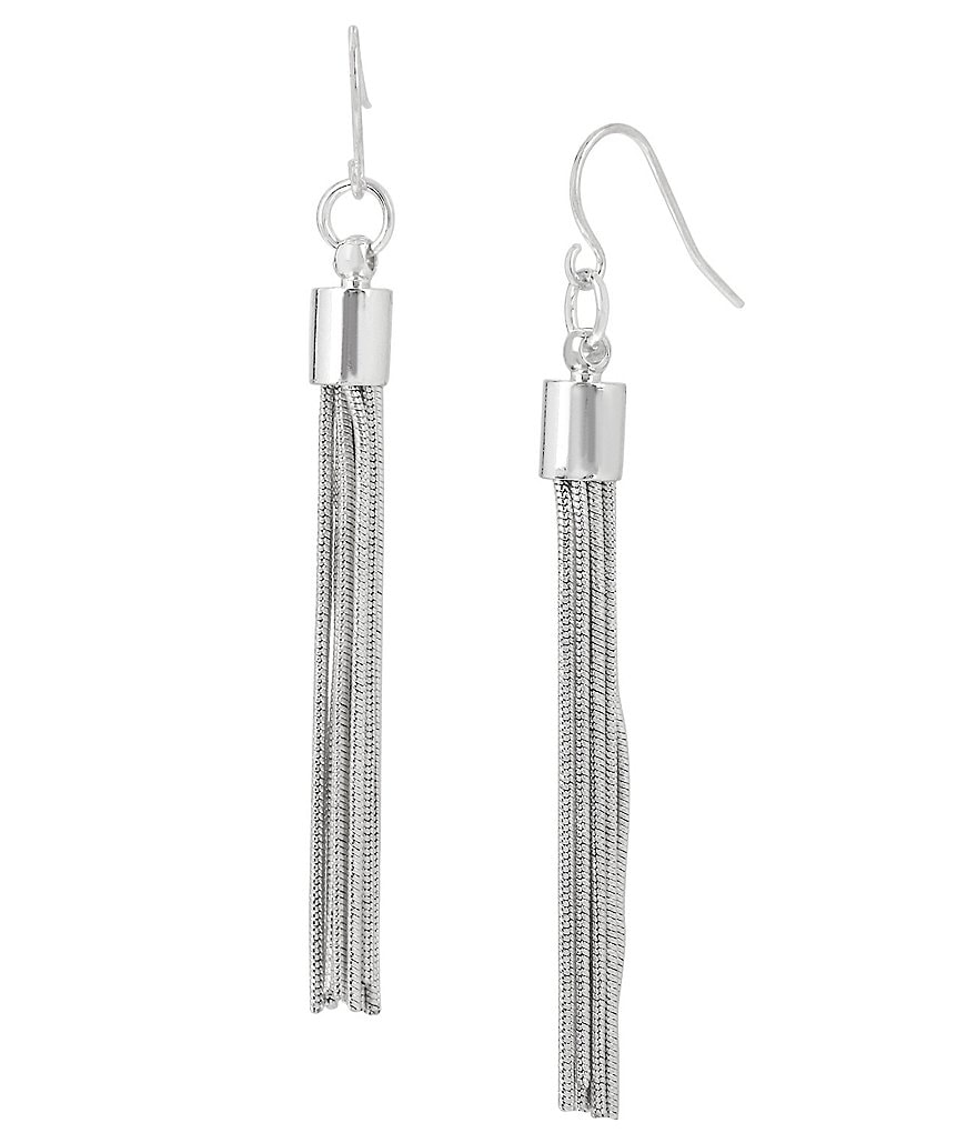 Kenneth Cole New York Tassel Linear Earrings