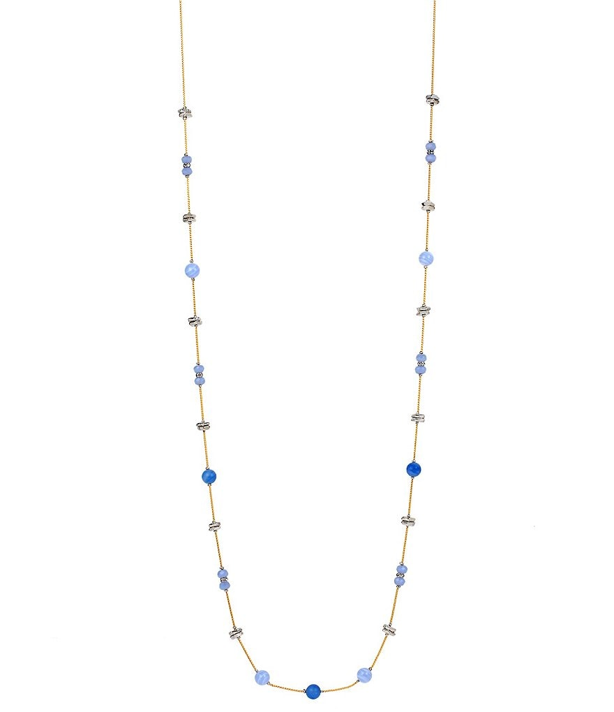 Kenneth Cole New York Lapis Long Station Necklace